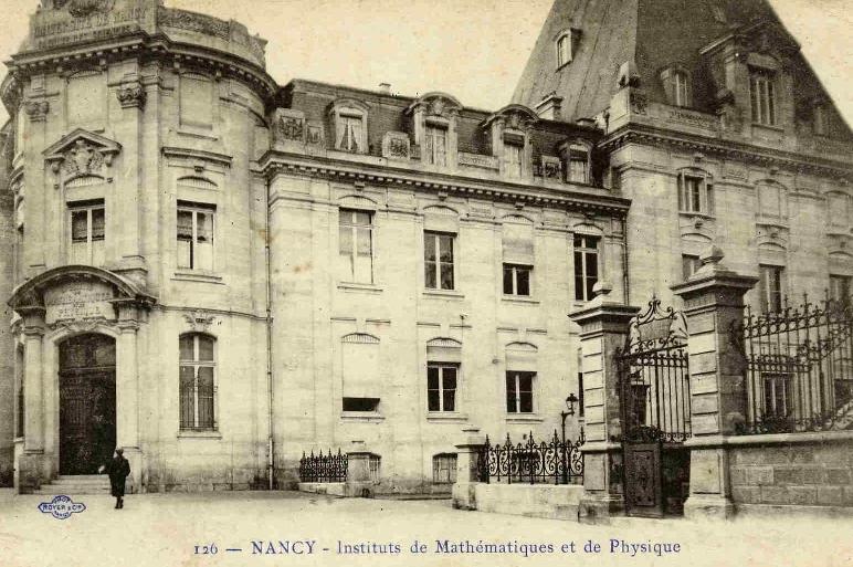Photographies anciennes de l'Institut de mathématiques et de physique de Nancy