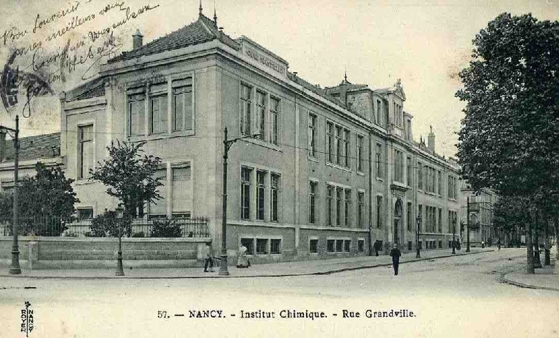 Photographies anciennes de l'Institut chimique de Nancy
