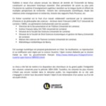 Rapport de M. Le Doyen de la Faculté des lettres<br />